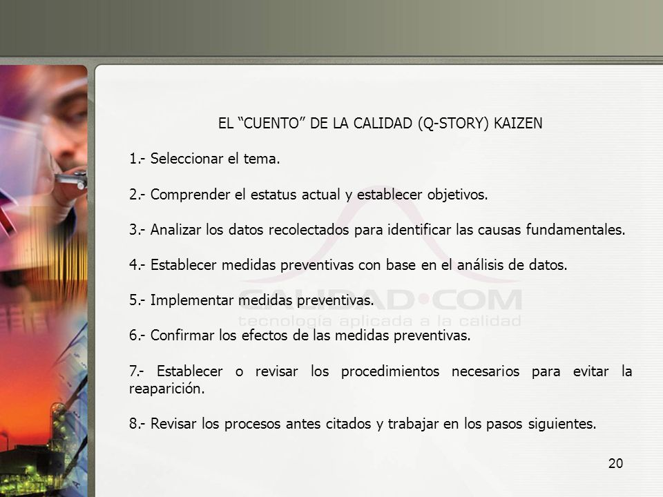 EL CUENTO DE LA CALIDAD (Q-STORY) KAIZEN