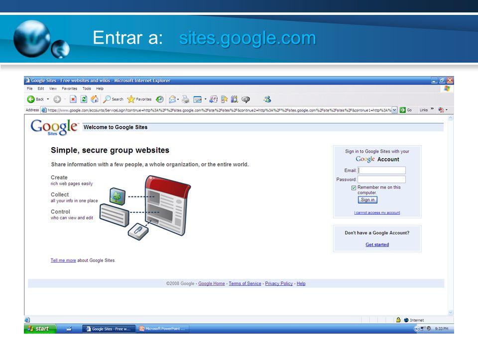 Entrar a: sites.google.com