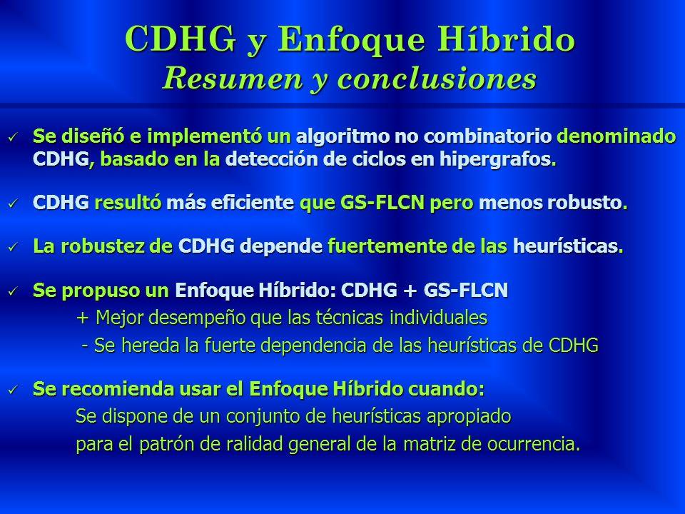 CDHG y Enfoque Híbrido Resumen y conclusiones