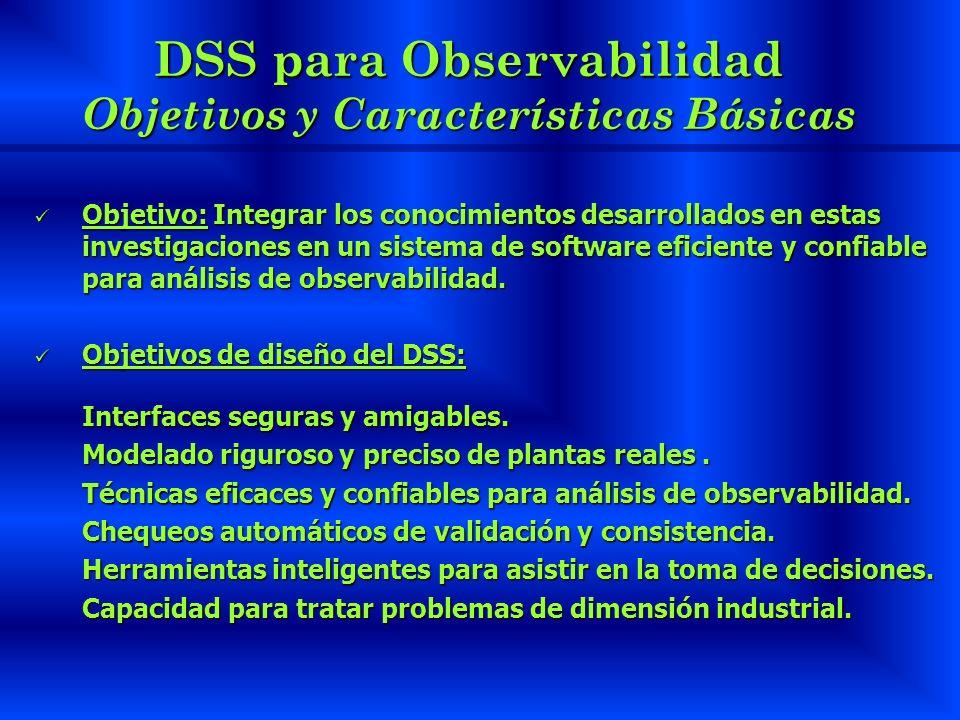 DSS para Observabilidad Objetivos y Características Básicas