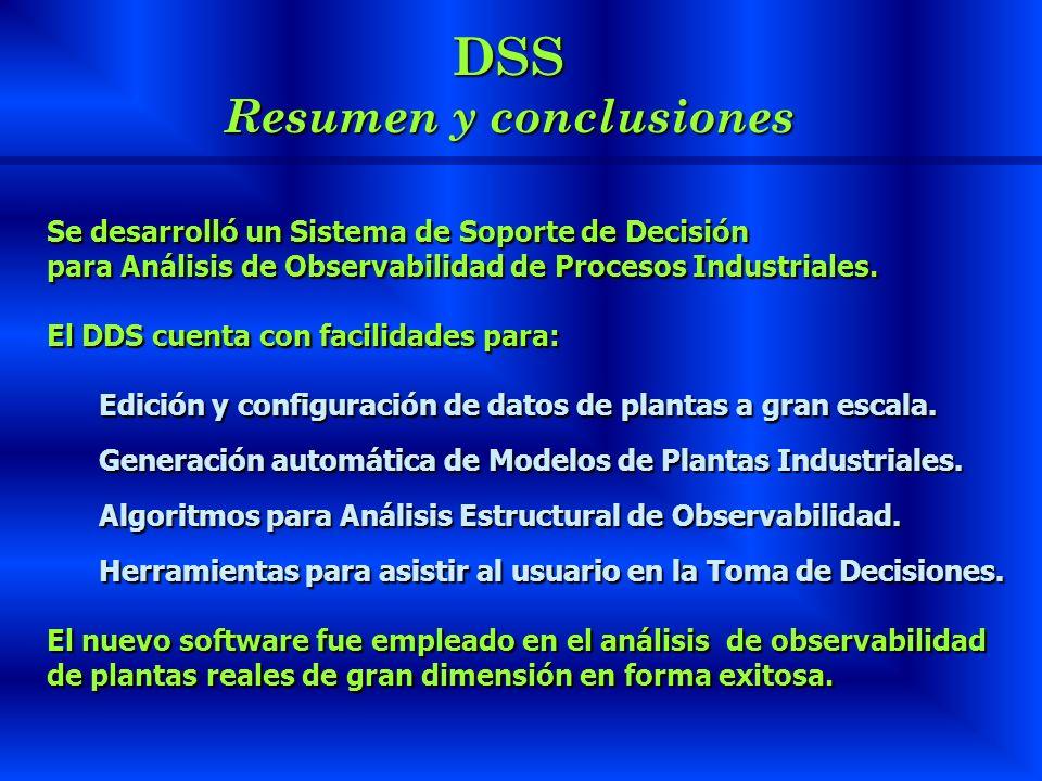 DSS Resumen y conclusiones