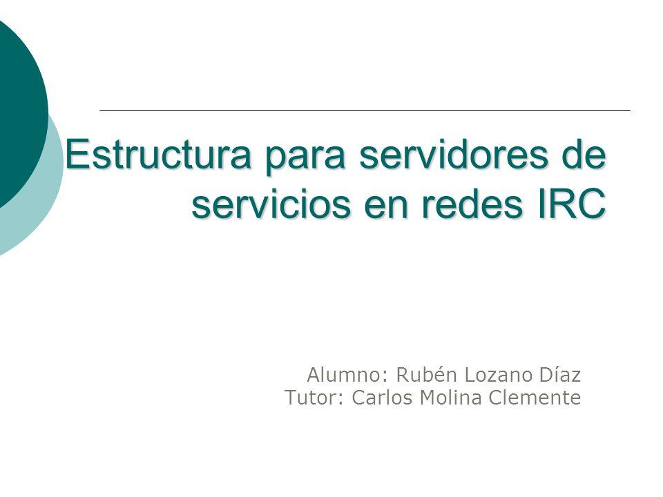 Estructura para servidores de servicios en redes IRC