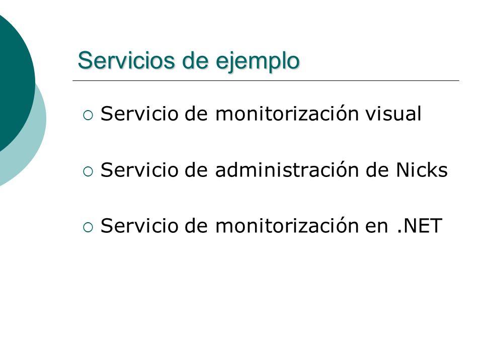 Servicios de ejemplo Servicio de monitorización visual