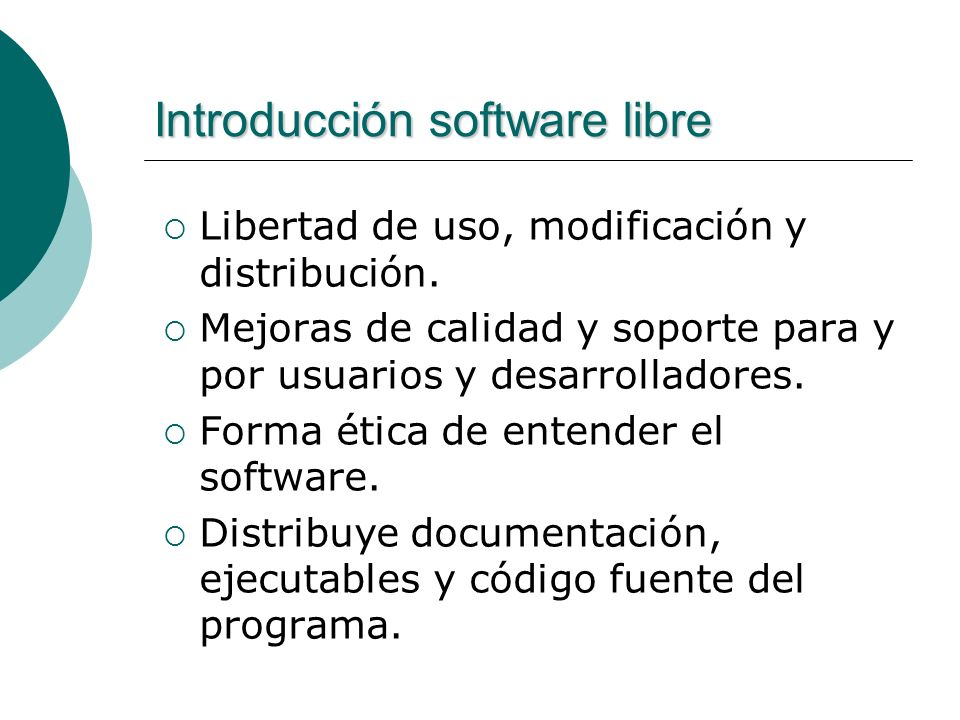 Introducción software libre