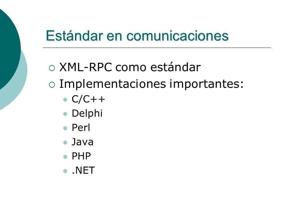 Estándar en comunicaciones