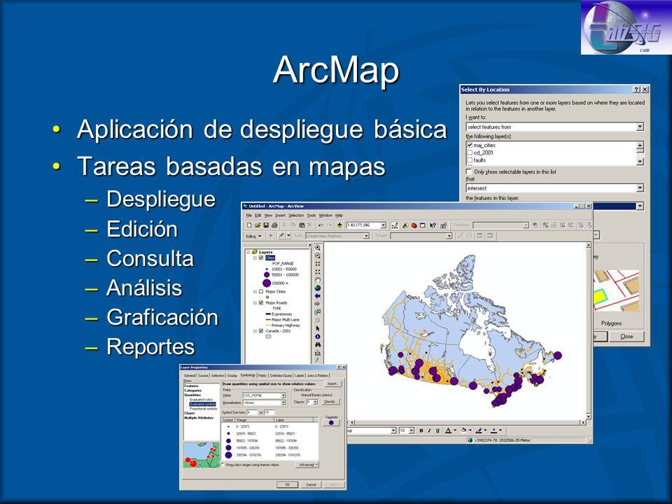 ArcMap Aplicación de despliegue básica Tareas basadas en mapas