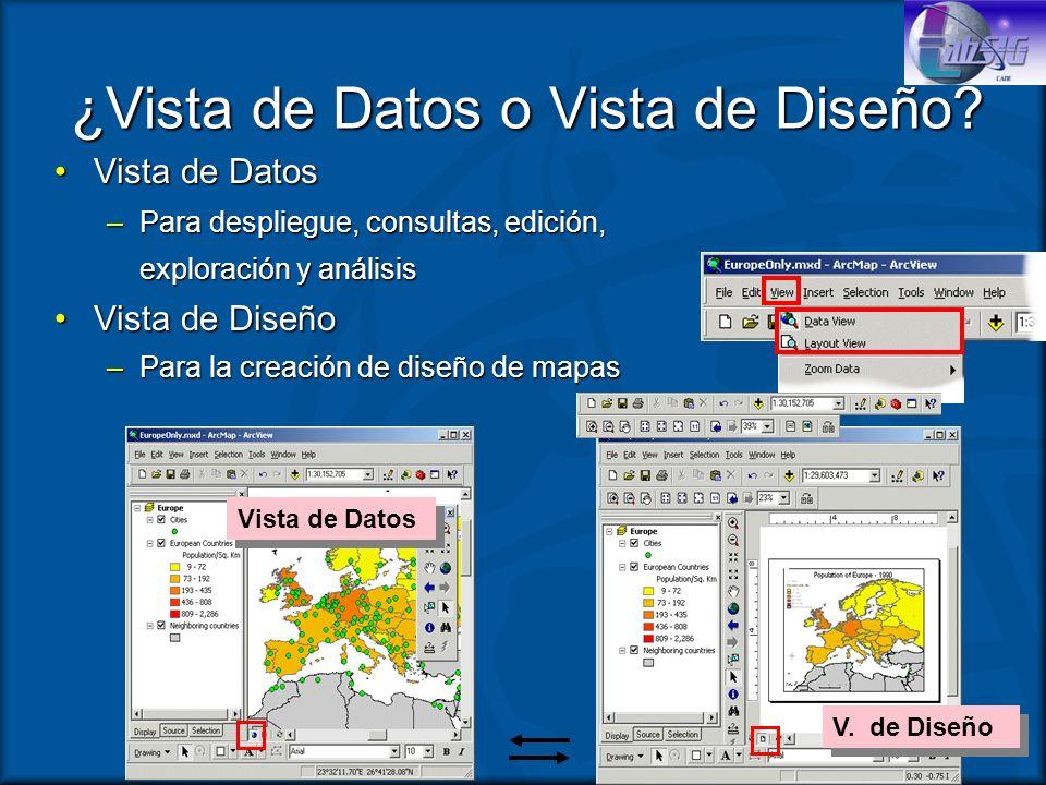 ¿Vista de Datos o Vista de Diseño