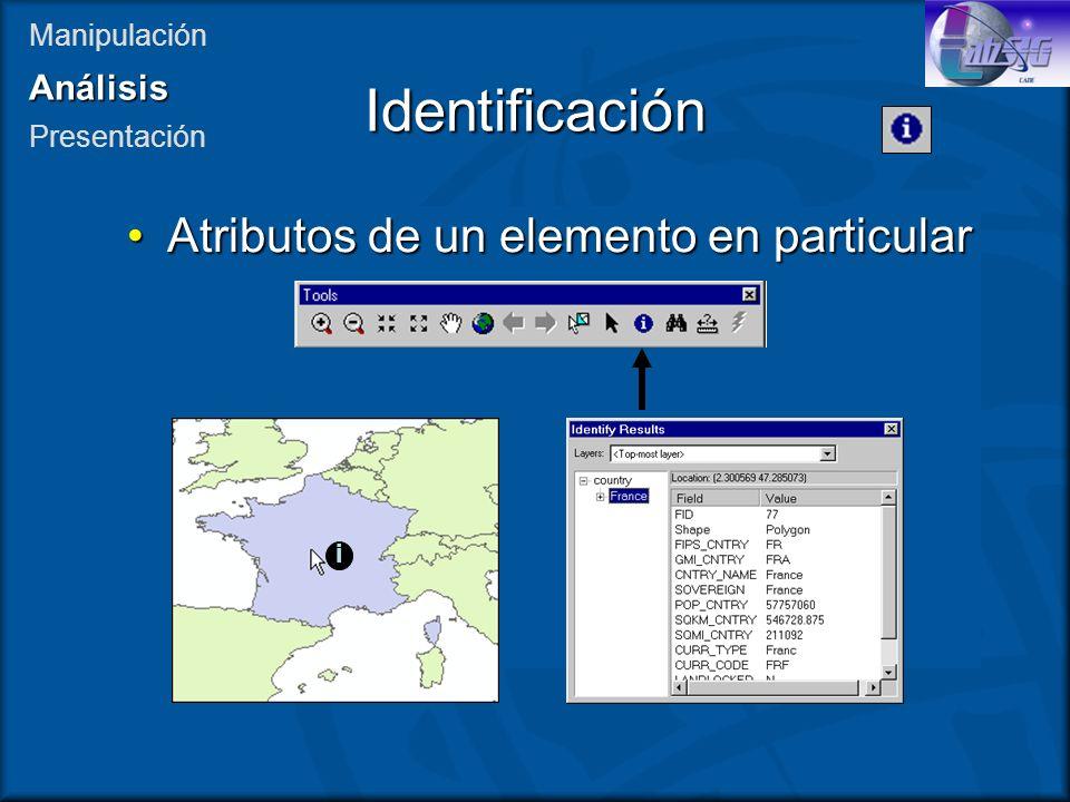 Identificación Atributos de un elemento en particular Análisis