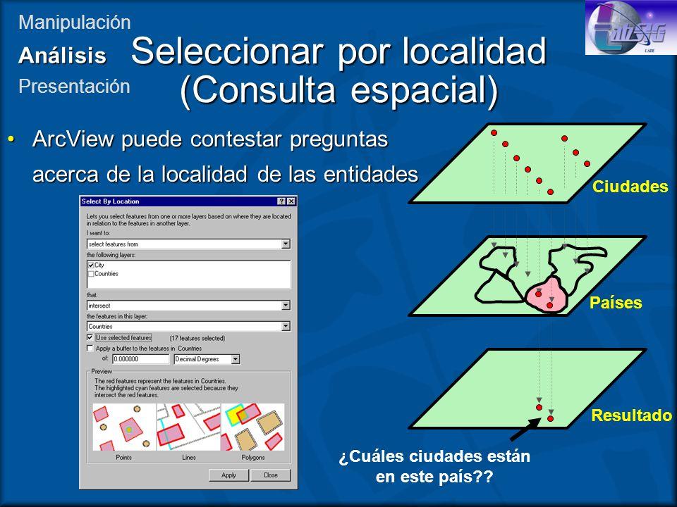 Seleccionar por localidad (Consulta espacial)