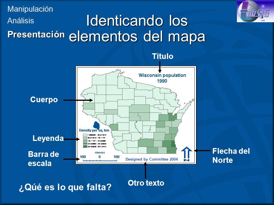 Identicando los elementos del mapa
