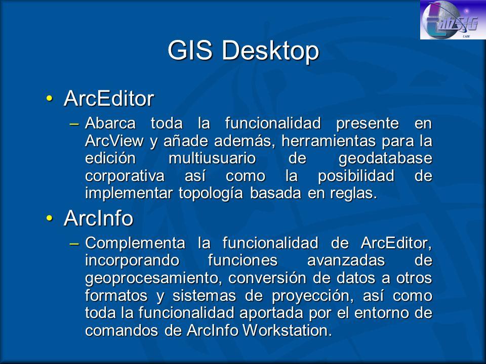 GIS Desktop ArcEditor ArcInfo