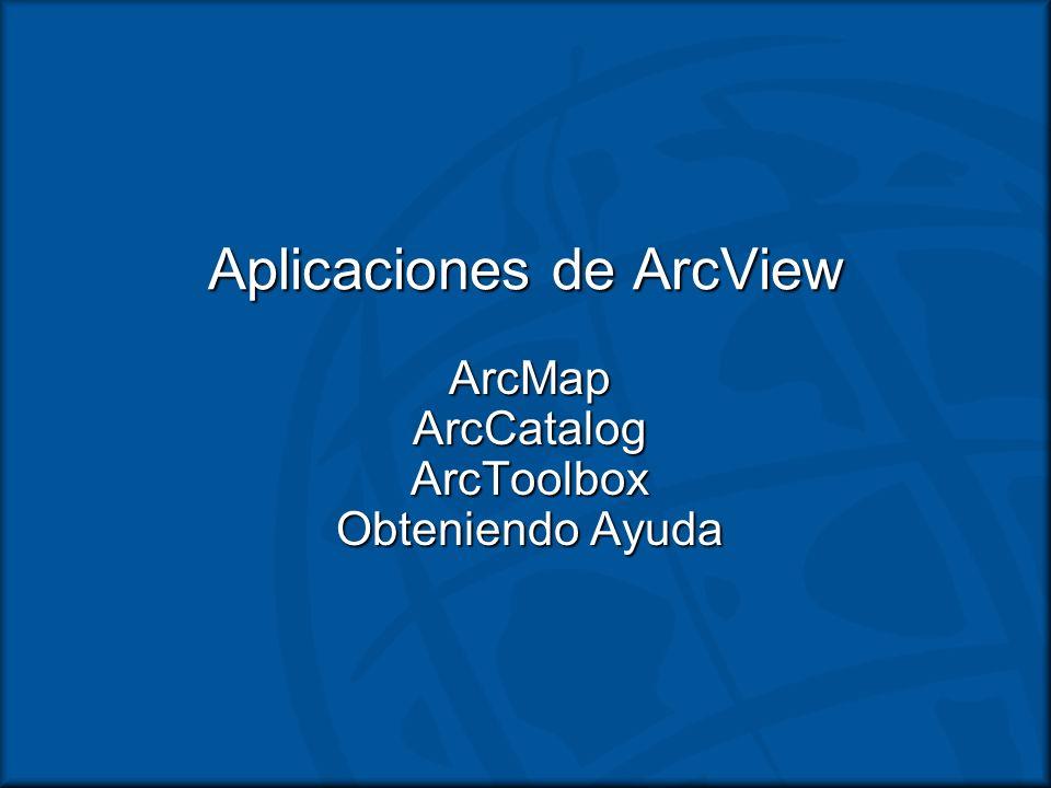 Aplicaciones de ArcView