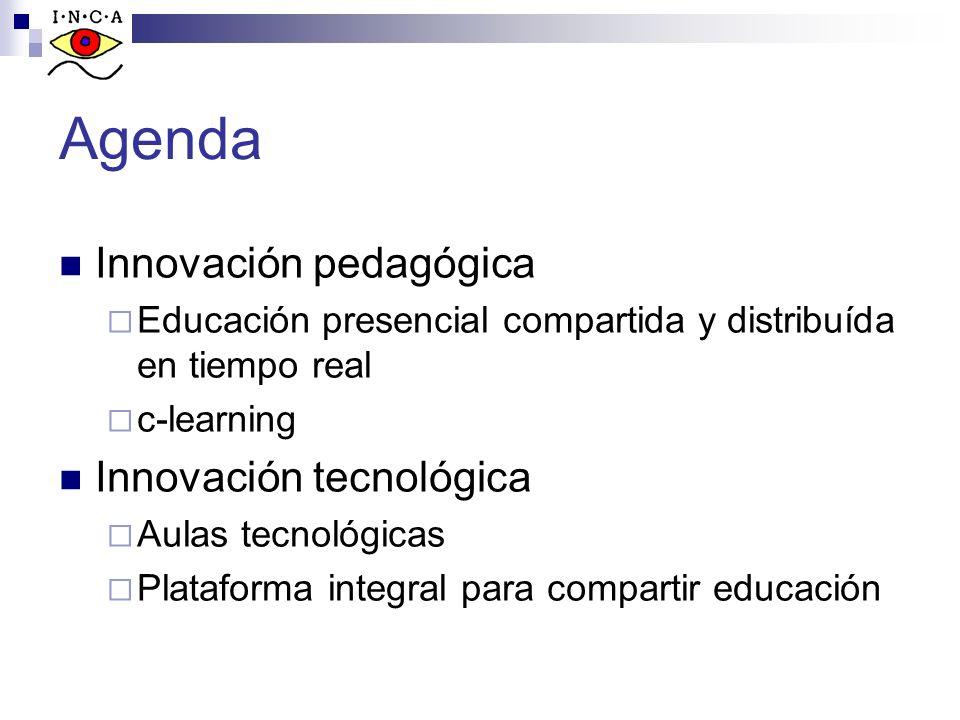Agenda Innovación pedagógica Innovación tecnológica
