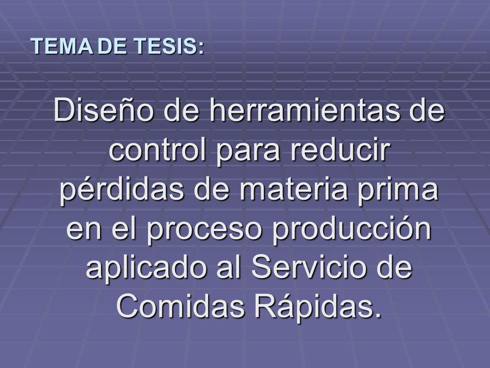 TEMA DE TESIS: