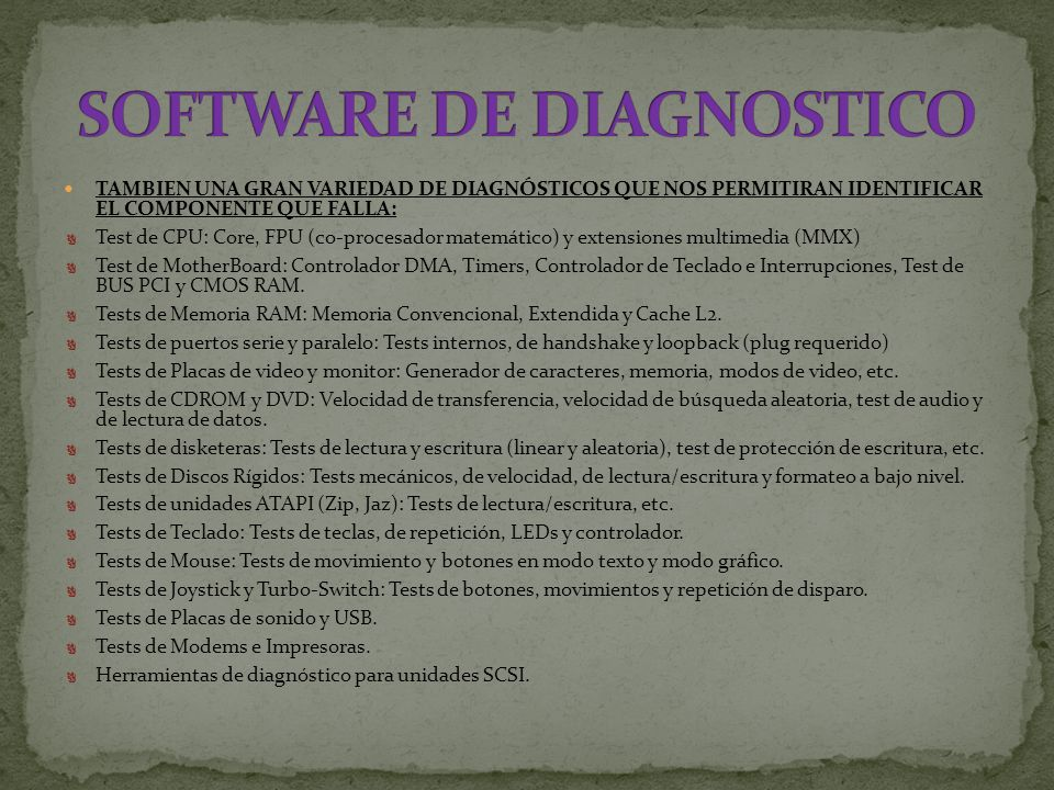 SOFTWARE DE DIAGNOSTICO