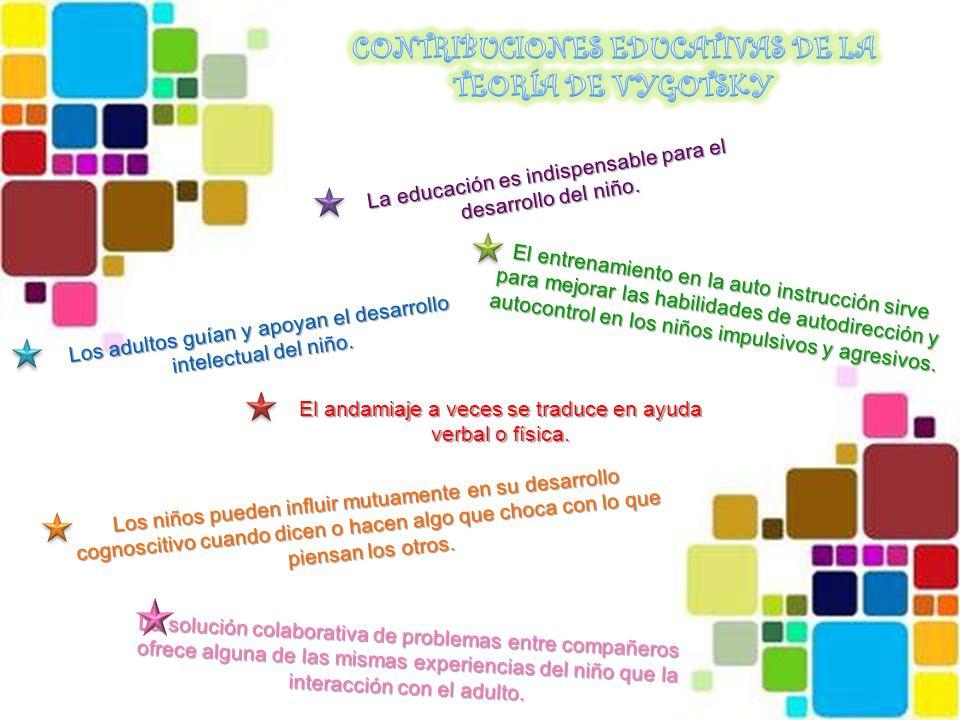 CONTRIBUCIONES EDUCATIVAS DE LA TEORÍA DE VYGOTSKY