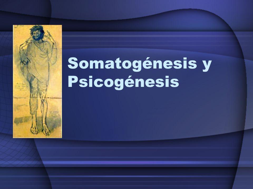 Somatogénesis y Psicogénesis