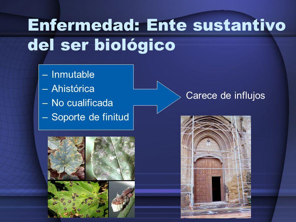 Enfermedad: Ente sustantivo del ser biológico