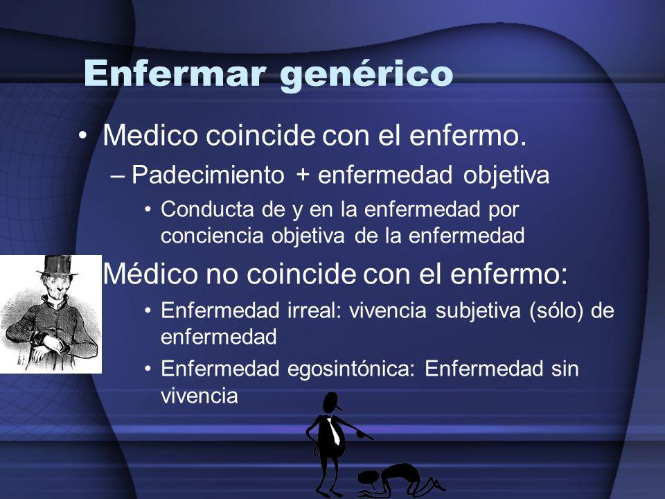 Enfermar genérico Medico coincide con el enfermo.