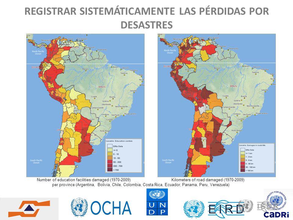 REGISTRAR SISTEMÁTICAMENTE LAS PÉRDIDAS POR DESASTRES