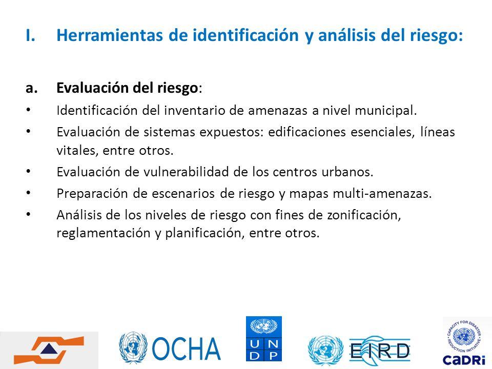 Herramientas de identificación y análisis del riesgo: