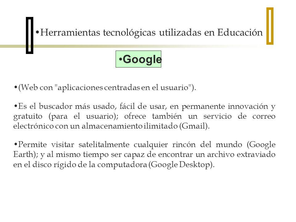Google Herramientas tecnológicas utilizadas en Educación