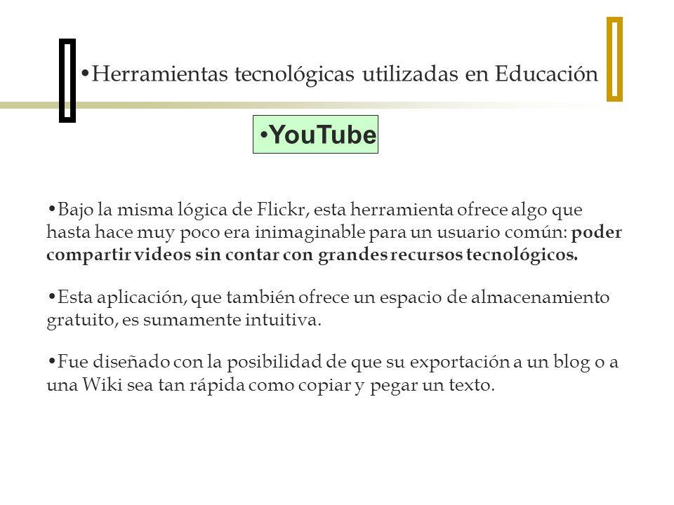 YouTube Herramientas tecnológicas utilizadas en Educación