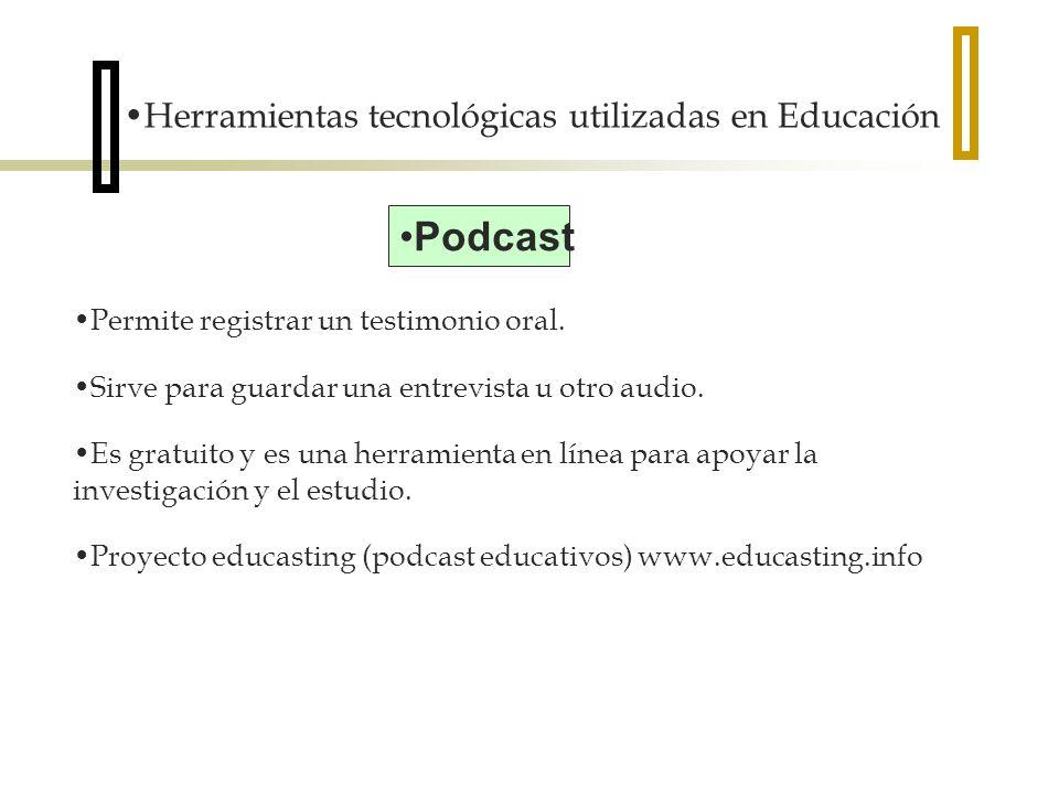 Podcast Herramientas tecnológicas utilizadas en Educación