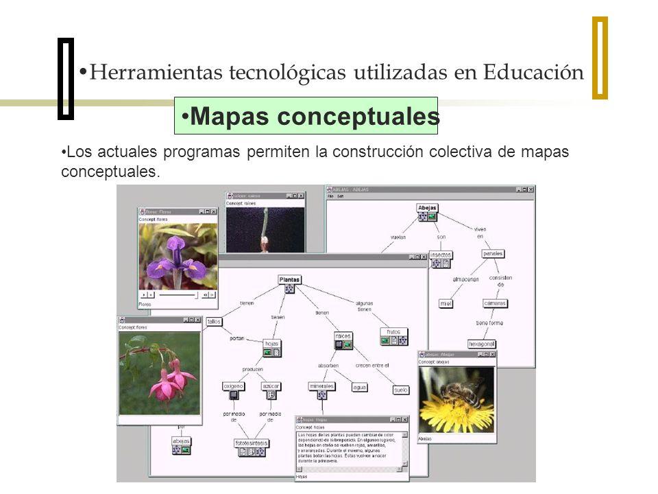 Mapas conceptuales Herramientas tecnológicas utilizadas en Educación