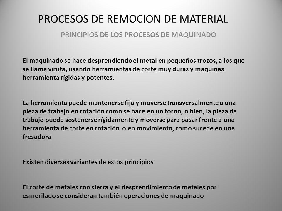 PROCESOS DE REMOCION DE MATERIAL