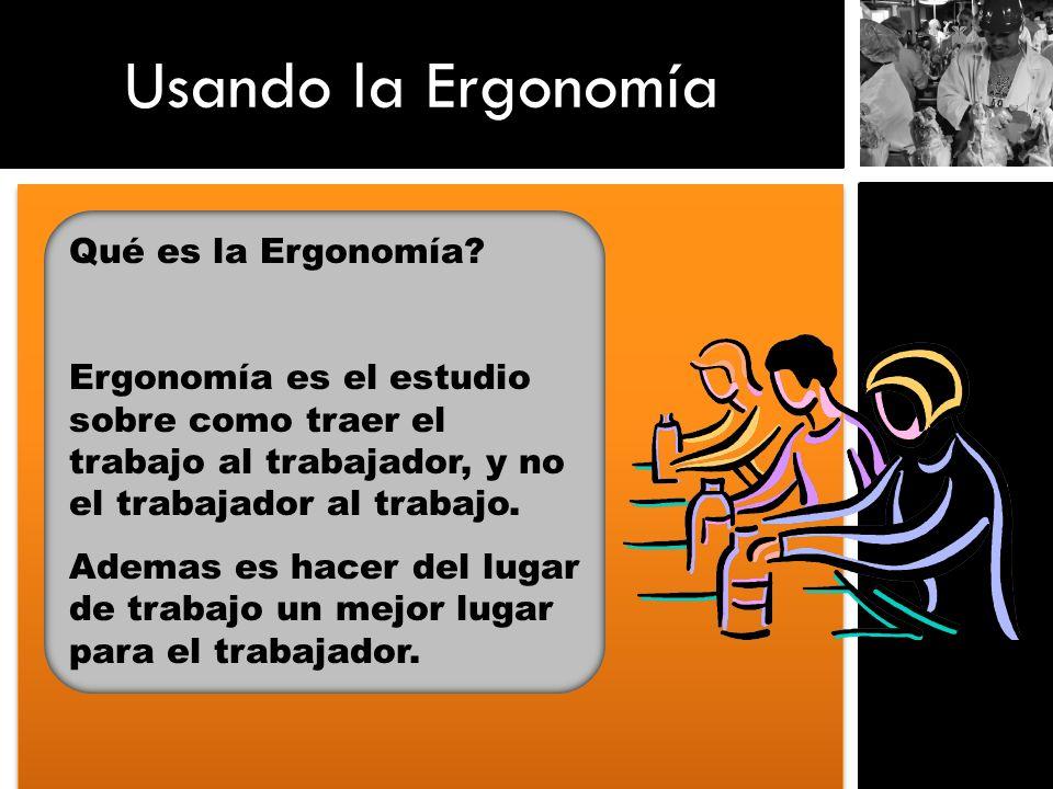 Usando la Ergonomía Qué es la Ergonomía