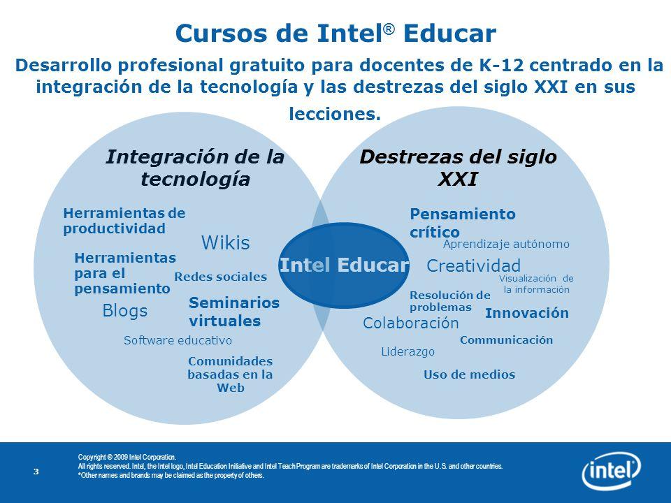 Cursos de Intel® Educar Desarrollo profesional gratuito para docentes de K-12 centrado en la integración de la tecnología y las destrezas del siglo XXI en sus lecciones.