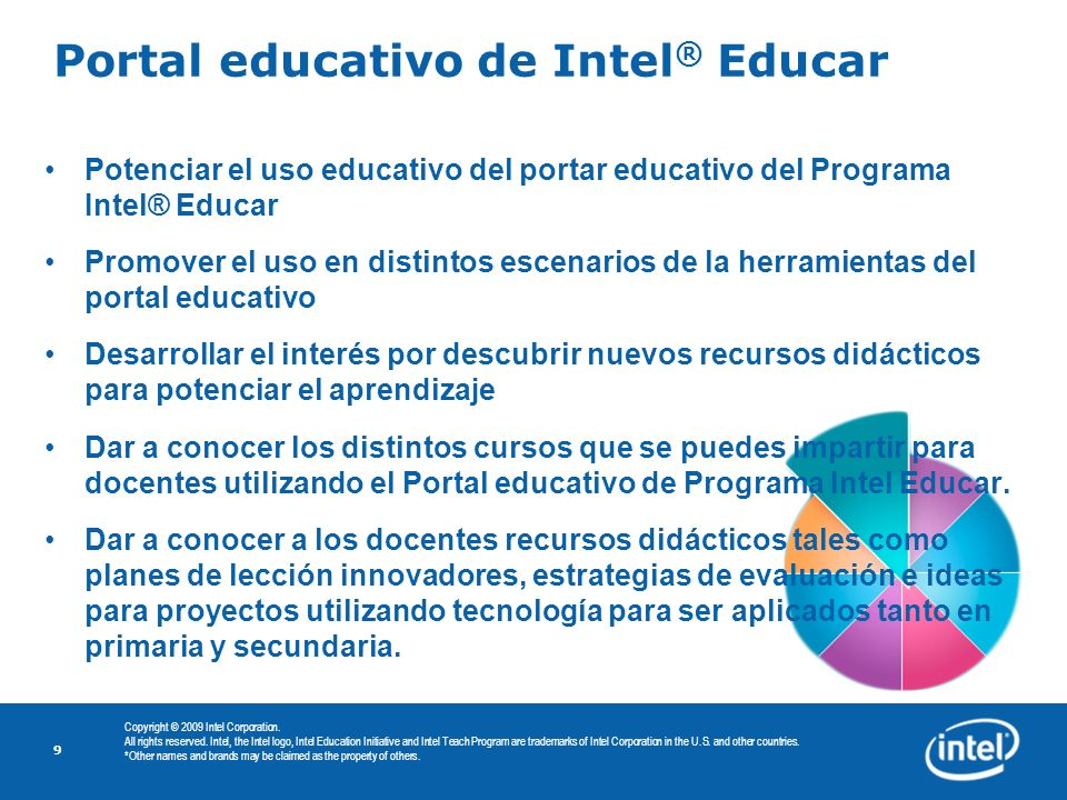 Portal educativo de Intel® Educar