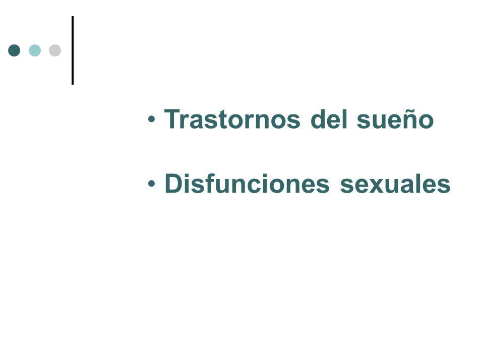 Trastornos del sueño Disfunciones sexuales