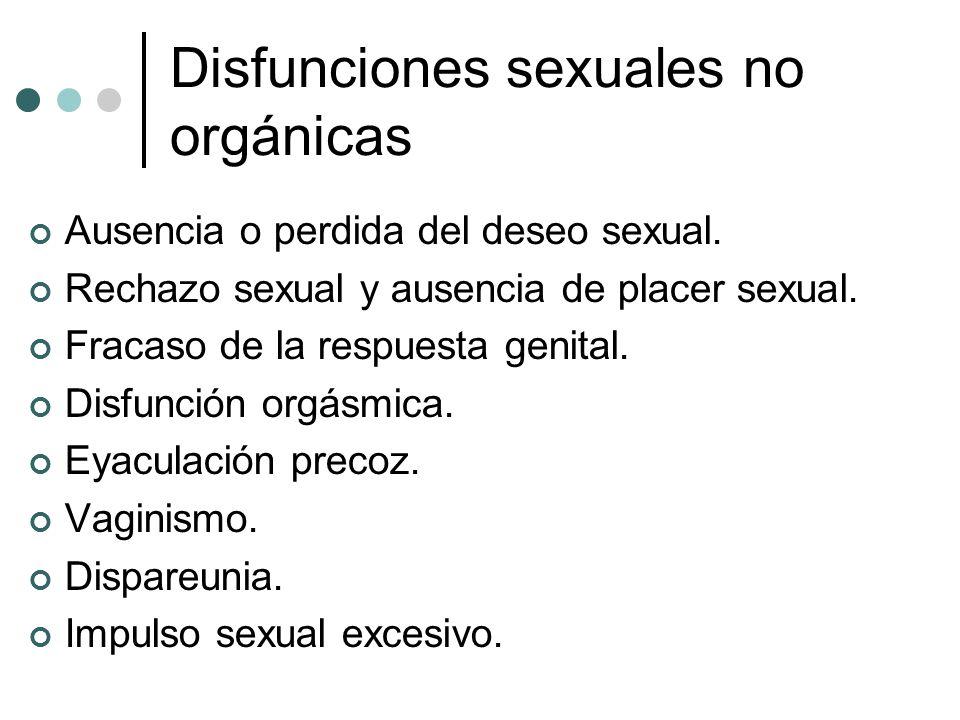 Disfunciones sexuales no orgánicas