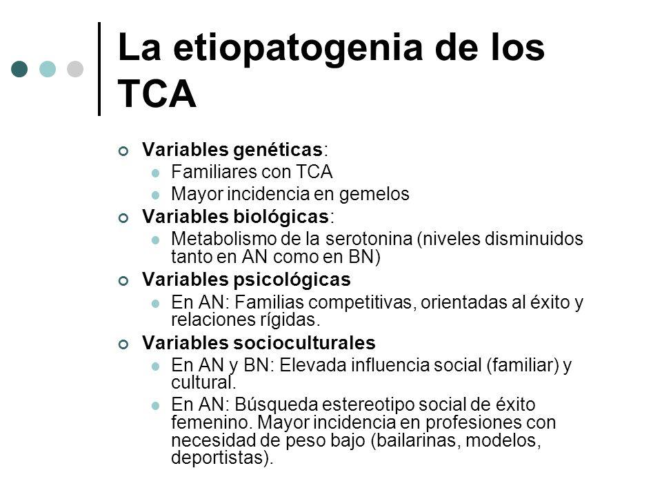 La etiopatogenia de los TCA