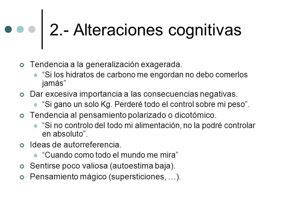 2.- Alteraciones cognitivas
