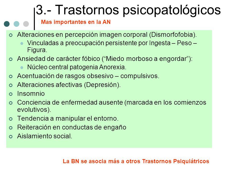 3.- Trastornos psicopatológicos