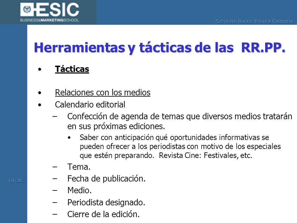 Herramientas y tácticas de las RR.PP.