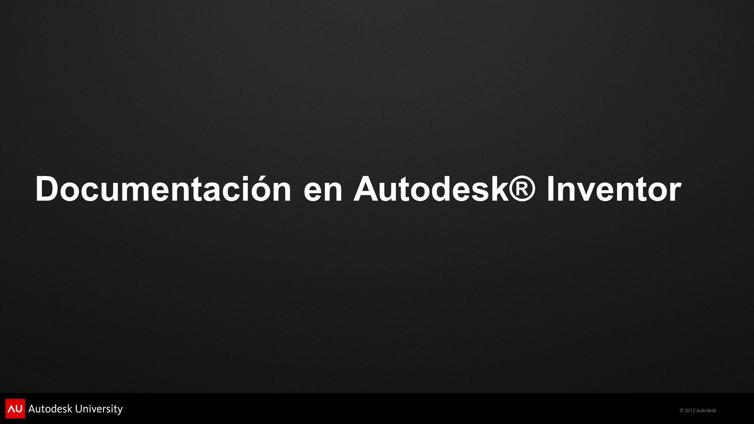 Documentación en Autodesk® Inventor