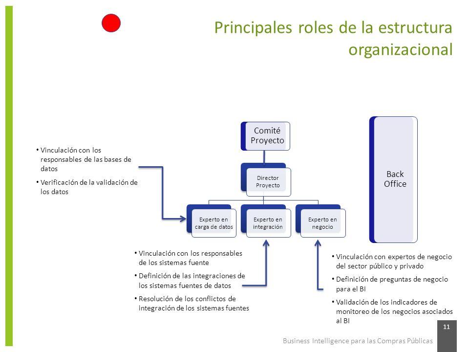Principales roles de la estructura organizacional