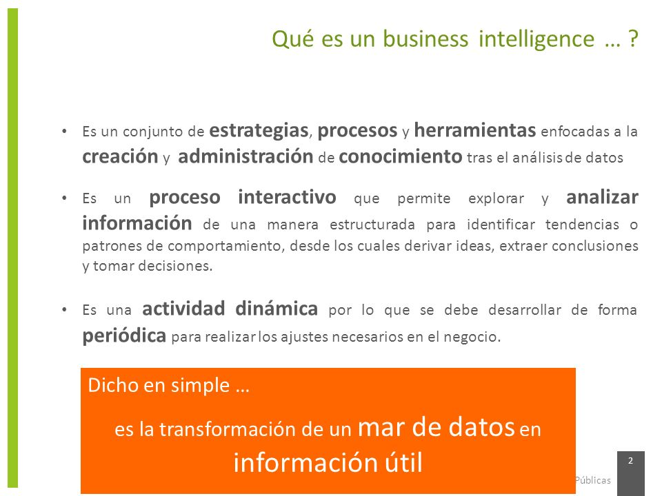 Qué es un business intelligence …