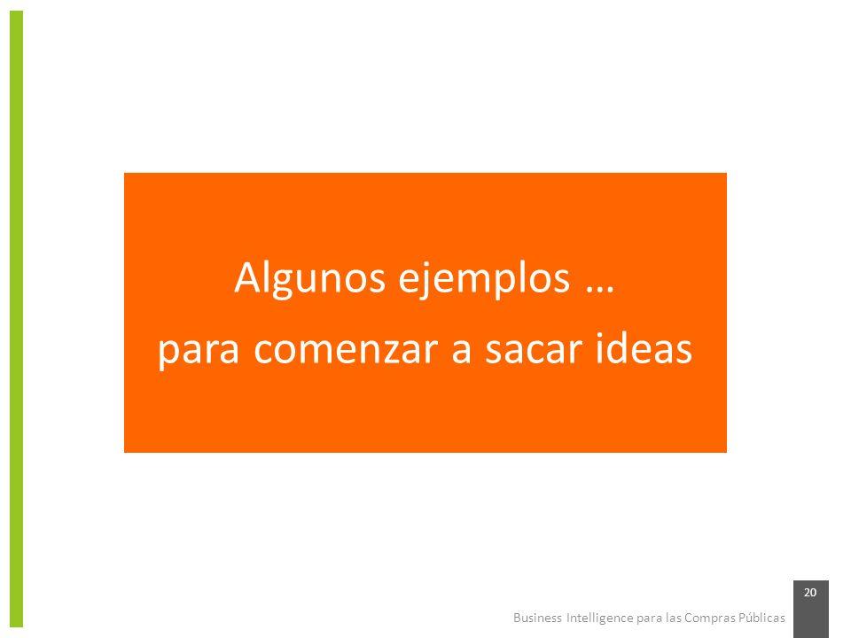 para comenzar a sacar ideas