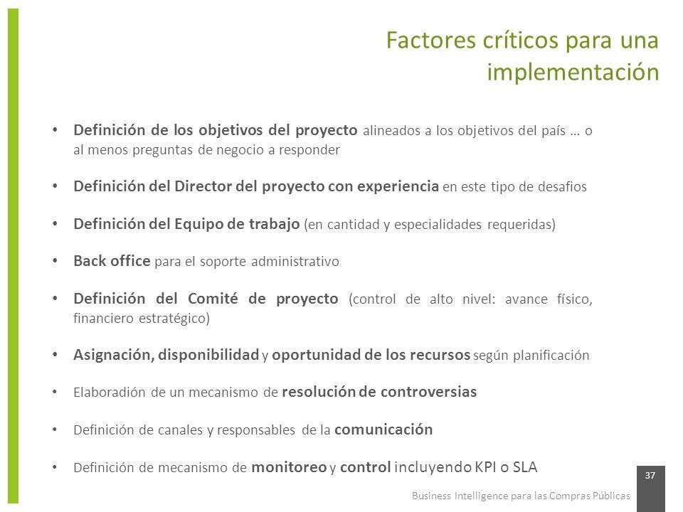 Factores críticos para una implementación