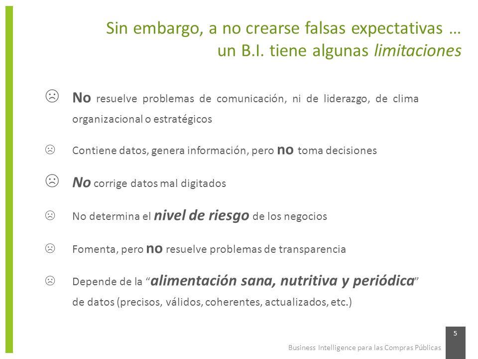 Sin embargo, a no crearse falsas expectativas …