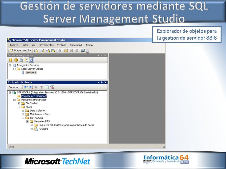 Gestión de servidores mediante SQL Server Management Studio