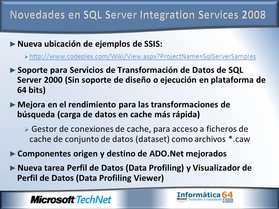 Novedades en SQL Server Integration Services 2008