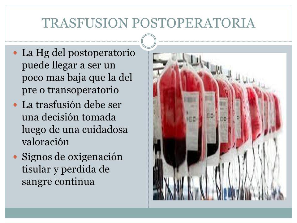 TRASFUSION POSTOPERATORIA
