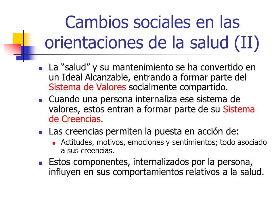 Cambios sociales en las orientaciones de la salud (II)
