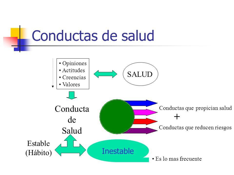 Conductas de salud + Conducta de Salud SALUD Estable (Hábito)